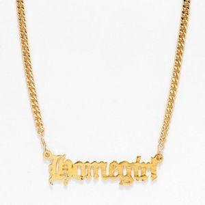 Zumiez VidaKush Homegirl Nameplate Choker Necklace